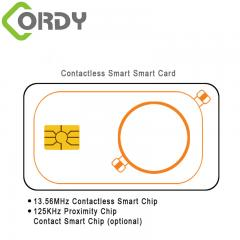 double carte rfid avec contact ic
